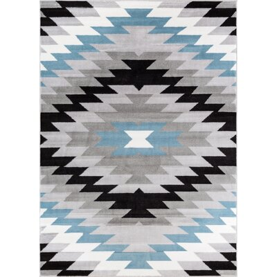 Point Arena Gray Area Rug Rug Size: 93 x 126