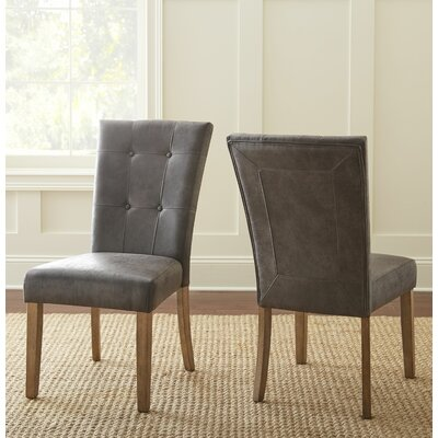 Dejardins Side Chair (Set of 2) Upholstery: Gray