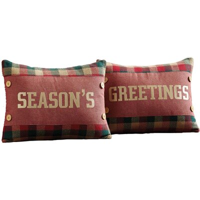 Reed 2 Piece Embroidered Cotton Throw Pillow Set