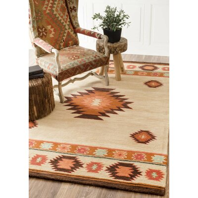Claghorn Shyla Hand-Tufted Beige Area Rug Rug Size: Rectangle 76 x 96