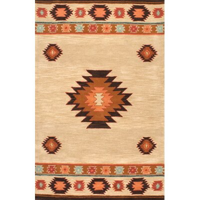 Claghorn Shyla Hand-Tufted Beige Area Rug Rug Size: Rectangle 5 x 8
