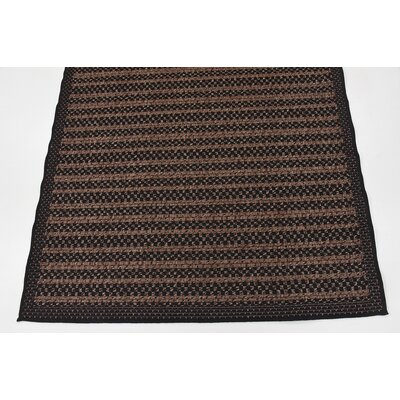 Clayera Brown Outdoor Area Rug Rug Size: Round 6