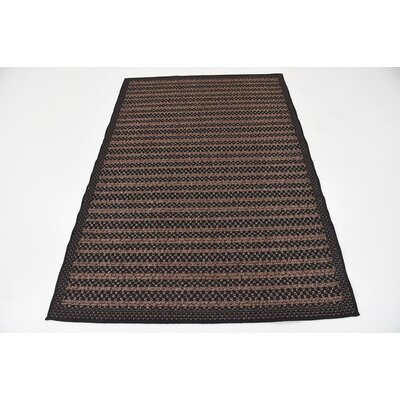 Clayera Brown Outdoor Area Rug Rug Size: 4 x 6