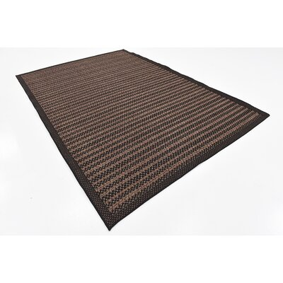 Clayera Brown Outdoor Area Rug Rug Size: 6 x 9