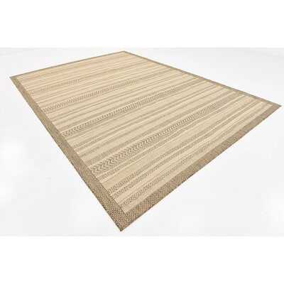 Claystone Beige Outdoor Area Rug Rug Size: 8 x 114
