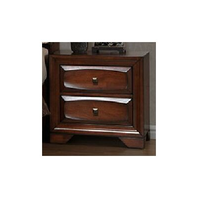 Granite 2 Drawer Nightstand