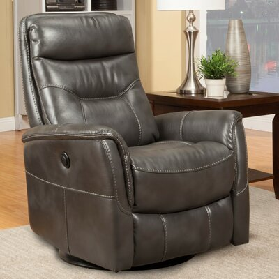 Haliburton Swivel Glider Power Recliner Upholstery: Flint