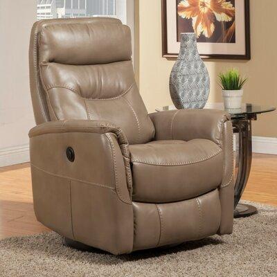 Cohoba Swivel Glider Power Recliner Upholstery: Linen