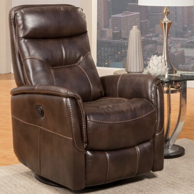 Haliburton Power Swivel Recliner Upholstery: Truffle