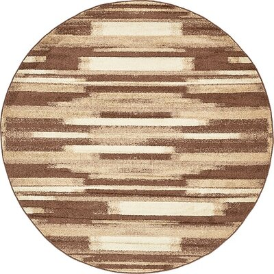 Cotati Brown Area Rug Rug Size: Round 8