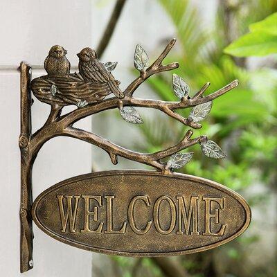 Loon Peak Chelles Birds Welcome Garden Sign