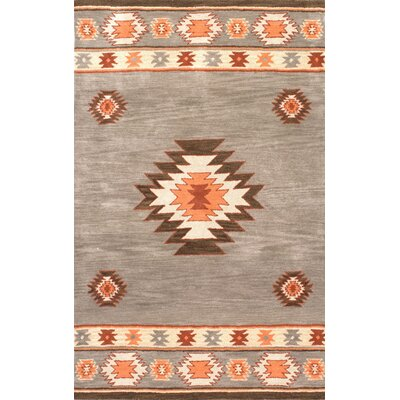 Claghorn Hand-Tufted Gray Area Rug Rug Size: Rectangle 6 x 9