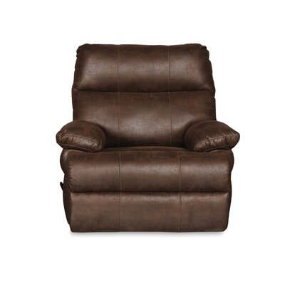 Clovis Manual Rocker Recliner Upholstery: Tobacco Brown