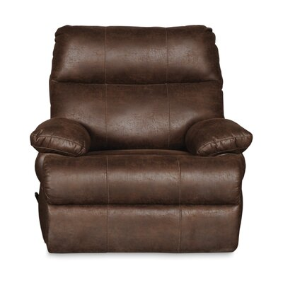 Clovis Manual Glider Recliner Upholstery: Tobacco Brown