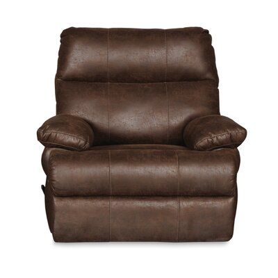 Clovis Manual Swivel Recliner Upholstery: Tobacco Brown