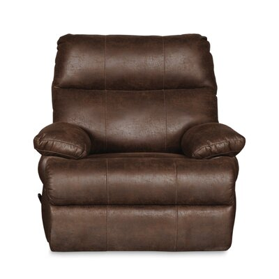 Clovis Oversized Rocker Swivel Recliner Finish: Tobacco