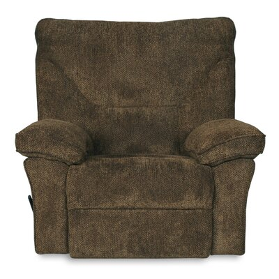 Algillo Fixed Base Manual Recliner Upholstery: Brown