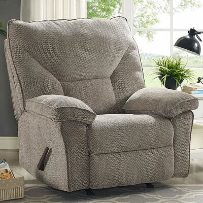 Algillo Fixed Base Manual Recliner Upholstery: Gray