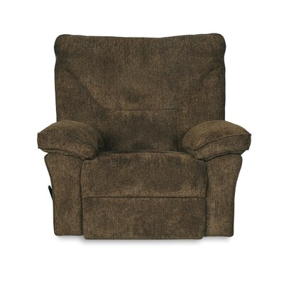Algillo Manual Rocker Recliner Upholstery: Brown