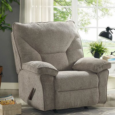 Algillo Manual Rocker Recliner Upholstery: Gray