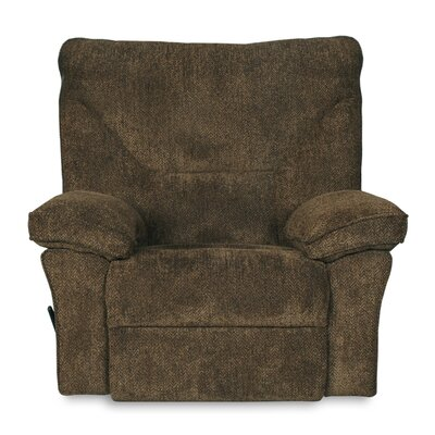 Algillo Manual Glider Recliner Color: Brown