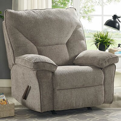 Algillo Manual Glider Recliner Color: Gray