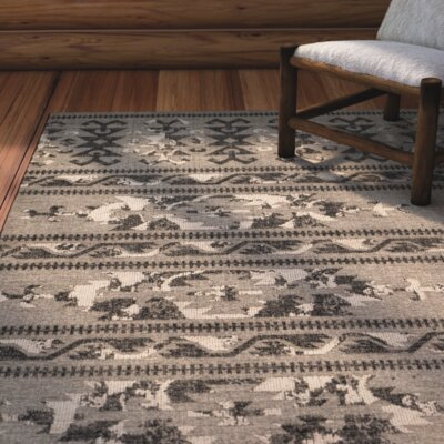 Port Laguerre Black/Gray Area Rug Rug Size: Rectangle 4 x 6