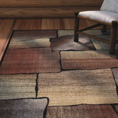 Tall Timber Rust/Beige Area Rug Rug Size: Rectangle 23 x 39