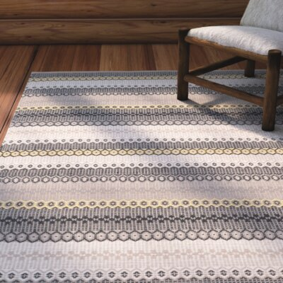 Chiginagak Hand-woven Gray Area Rug Rug Size: Rectangle 5 x 8