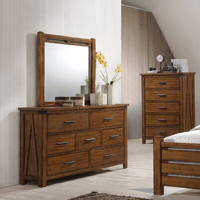 Cergy 7 Drawer Dresser With Mirror