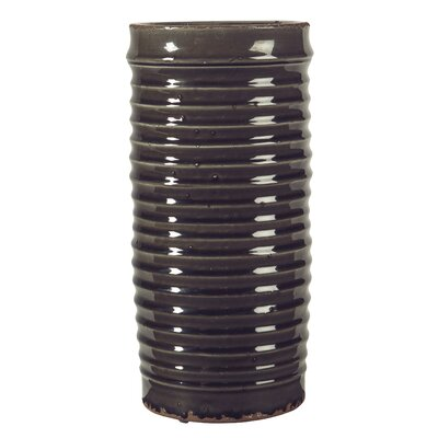 "Ribbed Table Vase Size: 14"" H x 5.75"" W x 5.75"" D LNPK1750 34505213"