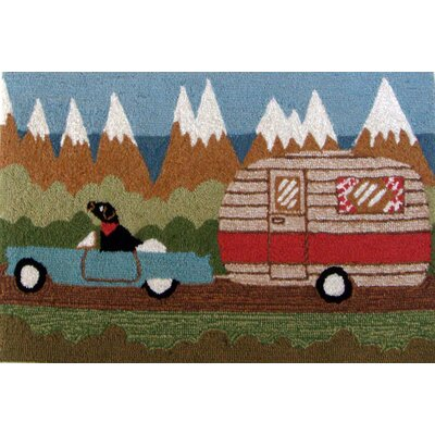 Folsom Green Camping Dog Indoor/Outdoor Area Rug Rug Size: 18 x 26