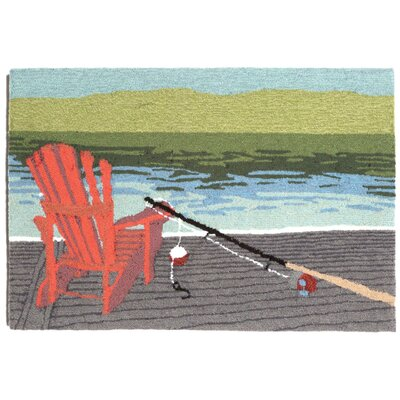 Folsom Lakeside Blue Indoor/Outdoor Area Rug Rug Size: 26 x 4