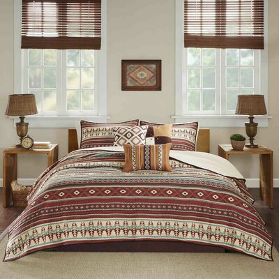 Hale 6 Piece Coverlet Set Size: King/California King, Color: Spice