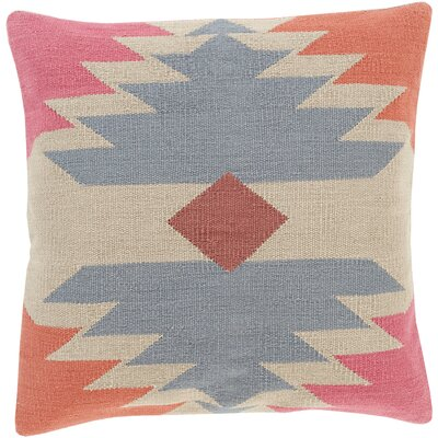 Westall 100% Cotton Throw Pillow Cover Color: GrayNeutral, Size: 18 H x 18 W x 0.25 D