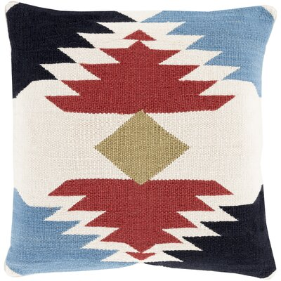 Westall 100% Cotton Throw Pillow Cover Size: 20 H x 20 W x 1 D, Color: RedBlack