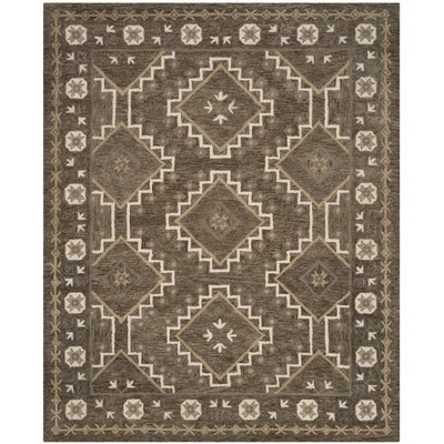 Concho Creek Hand-Tufted Brown/Taupe Area Rug Rug Size: 4 x 6