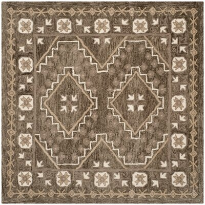 Concho Creek Hand-Tufted Brown/Taupe Area Rug Rug Size: Square 5