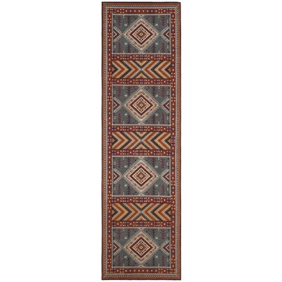 Herblain Red/Yellow Area Rug Rug Size: Runner 23 x 8