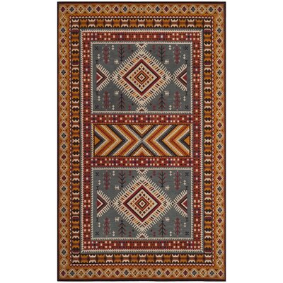 Herblain Red/Yellow Area Rug Rug Size: Rectangle 5 x 8