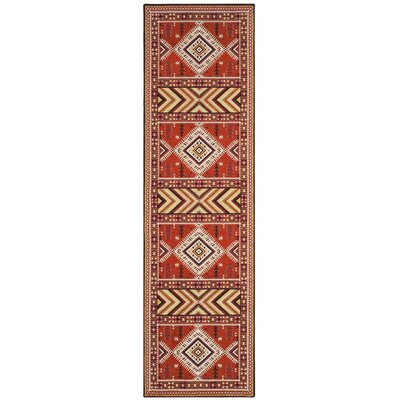 Herblain Orange Indoor Area Rug Rug Size: Runner 23 x 8
