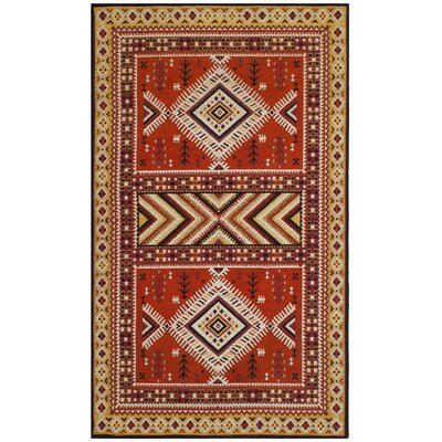 Herblain Orange Indoor Area Rug Rug Size: Rectangle 3 x 5