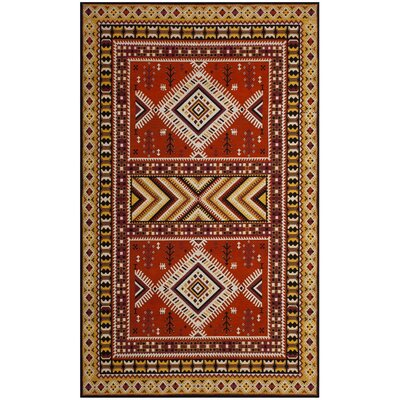 Herblain Orange Indoor Area Rug Rug Size: Rectangle 5 x 8