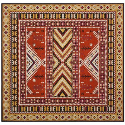 Herblain Orange Indoor Area Rug Rug Size: Square 6