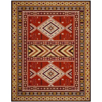 Herblain Orange Indoor Area Rug Rug Size: Rectangle 8 x 10