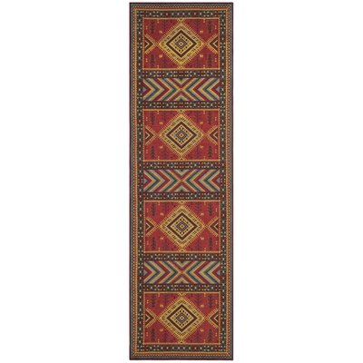 Herblain Red Indoor Area Rug Rug Size: Runner 23 x 8