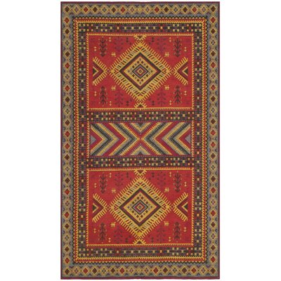 Herblain Red Indoor Area Rug Rug Size: 3 x 5