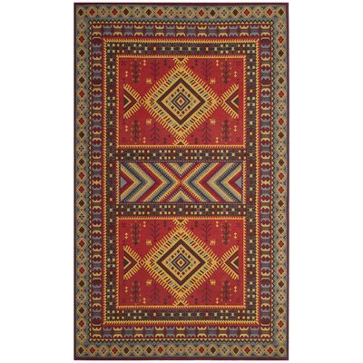 Herblain Red Indoor Area Rug Rug Size: 67 x 92