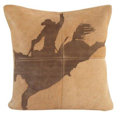 Arcata Natural Leather Throw Pillow