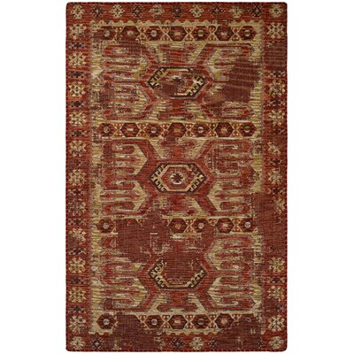 Dulwich Terracotta/Ivory Area Rug Rug Size: Rectangle 53 x 76